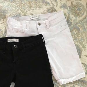 White Abercrombie skinny shorts size 14